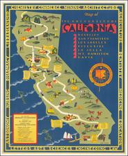 California Map By S. Iachman