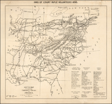 United States and Civil War Map By T. Miller Maguire