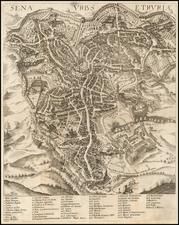 Italy Map By Johann Heinrich von Pflaumern