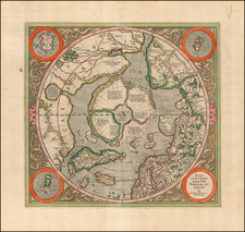 Northern Hemisphere and Polar Maps Map By Gerard Mercator