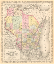 Wisconsin Map By Charles Desilver