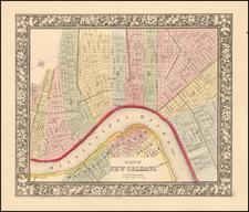 South Map By Samuel Augustus Mitchell Jr. / William Bradley