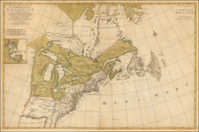 United States, North America and Canada Map By Pieter Mortier