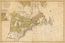 Carte Nouvelle de L'Amerique Angloise Contenant La Virginie, Mary-Land, Caroline, Pennsylvania.. By Pierre Mortier