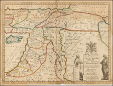 Turkey, Middle East and Turkey & Asia Minor Map By Edward Wells