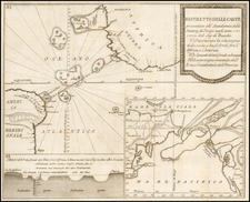 Atlantic Ocean, Pacific Ocean, Alaska, North America, Curiosities and America Map By Giovanni Rinaldo Carli