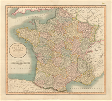 France Map By John Cary