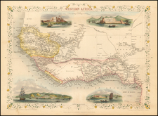 West Africa Map By John Tallis