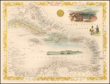 Caribbean Map By John Tallis