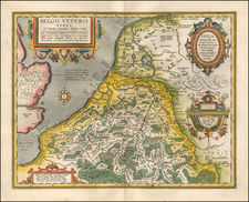 Netherlands and Belgium Map By Abraham Ortelius