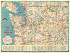 Washington Map By Gousha Company