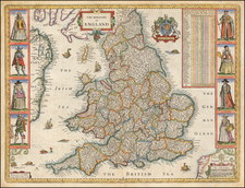 England Map By John Speed