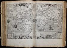 World, Holy Land and Atlases Map By Arnoldus Montanus