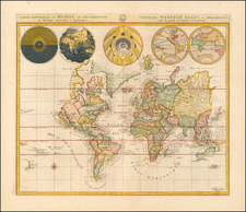 Carte Generale du Monde, ou Description du Monde Terrestre & Aquatique… By Johannes Covens  &  Cornelis Mortier