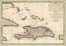Caribbean Map By Jean-Baptiste Bourguignon d'Anville