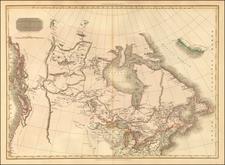 Polar Maps, Midwest, Alaska and Canada Map By John Pinkerton