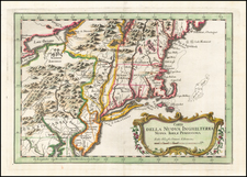 New England and Mid-Atlantic Map By Jacques Nicolas Bellin