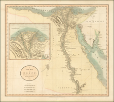 Egypt Map By John Cary