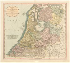 A New Map of the United Provinces, Comprehending Holland, Zealand, Utrecht, Gelders, Over Yssel, Friesland and Groningen; with the Lands of Drent, Dutch Flanders . . . 1799 By John Cary