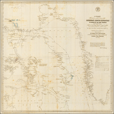 Polar Maps and Canada Map By Matthew Fontaine Maury / U.S. Hydrographical Office