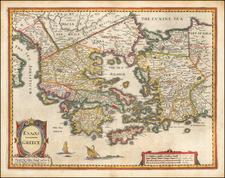 Greece Map By John Speed