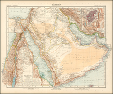 Middle East Map By Adolf Stieler