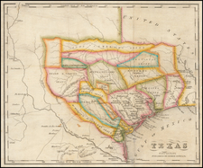 Texas Map By A.J. Doolittle  &  Samuel Bishop Munson