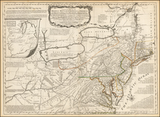 United States, Mid-Atlantic and Midwest Map By Lewis Evans / Sayer & Jefferys
