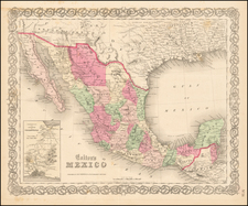 Mexico Map By Joseph Hutchins Colton