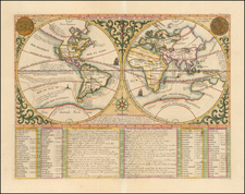 World and California as an Island Map By Henri Chatelain