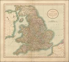 England Map By John Cary