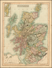 Scotland Map By Charles Smith