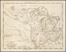 Midwest and Plains Map By Jedidiah Morse