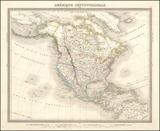 Southwest and North America Map By Ambroise Tardieu