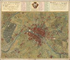 Paris Map By Homann Heirs