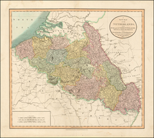 Netherlands and Germany Map By John Cary