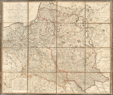 Poland Map By Giovanni Antonio Rizzi-Zannoni / Artaria & Co.