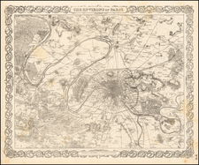 France Map By Joseph Hutchins Colton