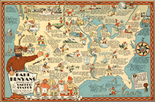 United States and Pictorial Maps Map By R. D. Handy