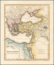 Greece, Turkey, Middle East and Turkey & Asia Minor Map By Fielding Lucas Jr.