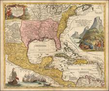 South, Southeast and Midwest Map By Johann Baptist Homann