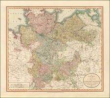 Germany and Baltic Countries Map By John Cary