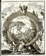 World, Northern Hemisphere, Polar Maps, Celestial Maps and Curiosities Map By Heinrich Scherer