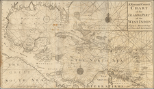 Florida, South, Texas and Caribbean Map By Thomas Page  &  Robert Mount