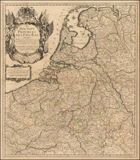 Netherlands Map By Pierre Du Val / Le Pere Placide de St. Helene