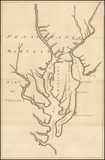 Mid-Atlantic, Pennsylvania, Maryland, Delaware, Southeast and Virginia Map By John Senex
