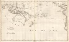 Australia & Oceania, Pacific, Australia, Oceania and Other Pacific Islands Map By Jean Benjamin de LaBorde