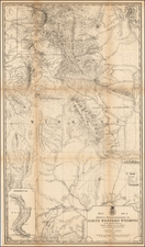 Wyoming Map By U.S. Army Corps of Topographical Engineer