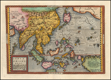 China, Japan, Korea, India, Southeast Asia, Philippines, Indonesia, Malaysia, Pacific, Australia and California Map By Johann Bussemachaer