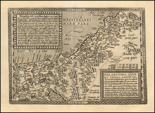 Holy Land Map By Matthias Quad / Johann Bussemachaer